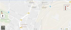 Plan accès Gymnase et Terrain